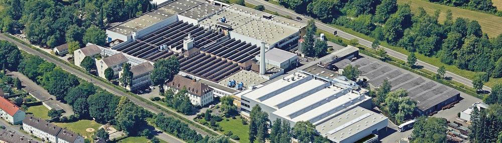 Vue de l'usine RUD à Aalen. RUD est le leader mondial pour la fabrication de chaînes de très haute qualité pour l'industrie. Les trémies doseuses ECO-DOS sont fabriquées par RUD.